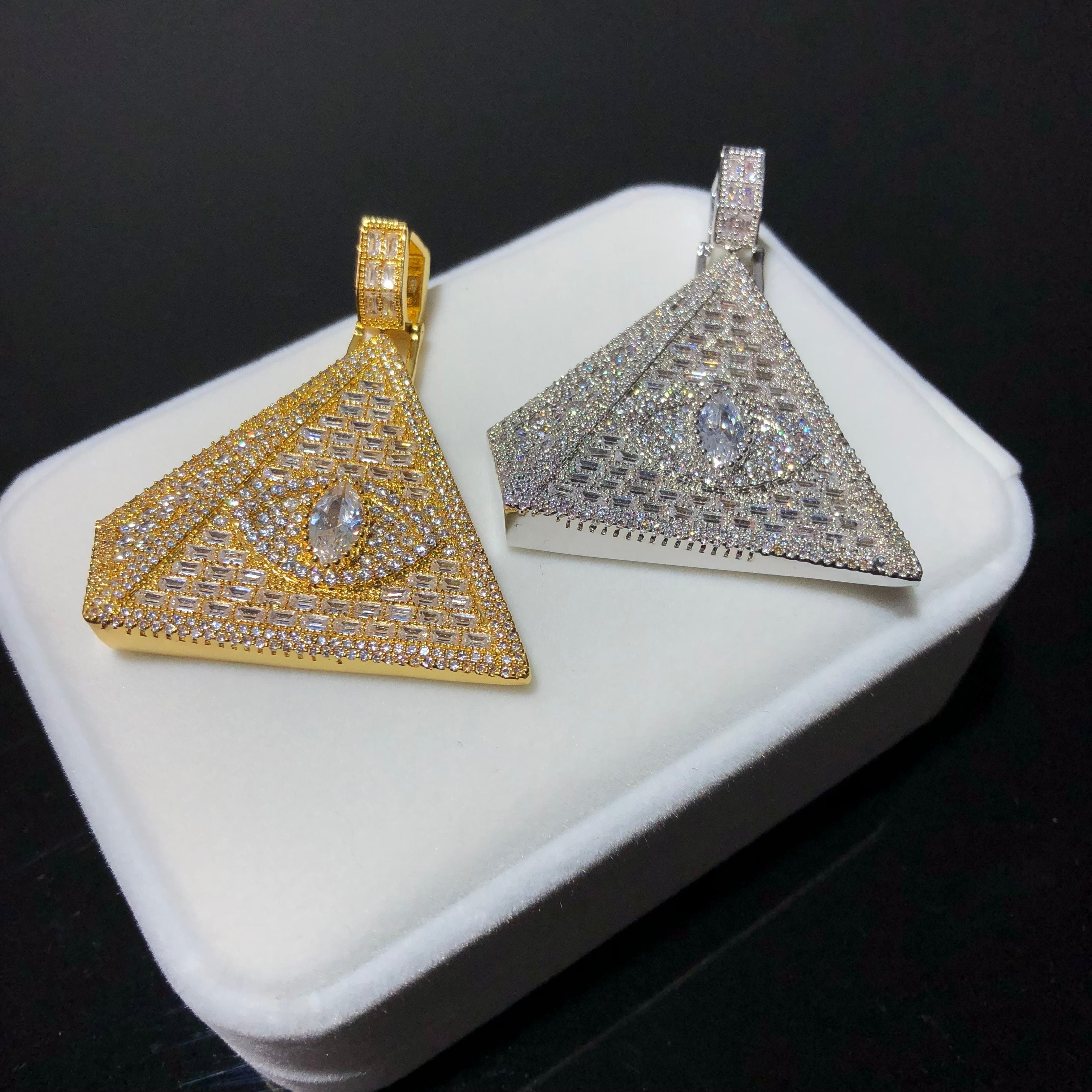 Baguette Pyramid Pendant Twenty 7 Links Pendants