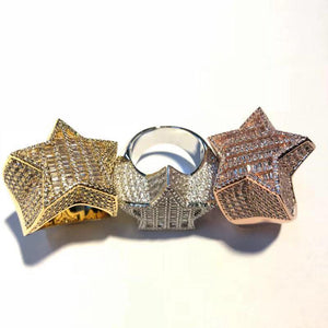 Baguette Star Ring Twenty 7 Links