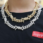 Barbed wire Cuban Link Chain Twenty 7 Links Chains
