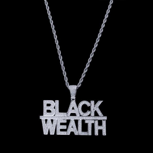 Black Wealth Pendant Twenty 7 Links
