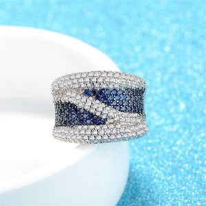 Blue Stones Infinity AAA Ring Twenty 7 Links Rings