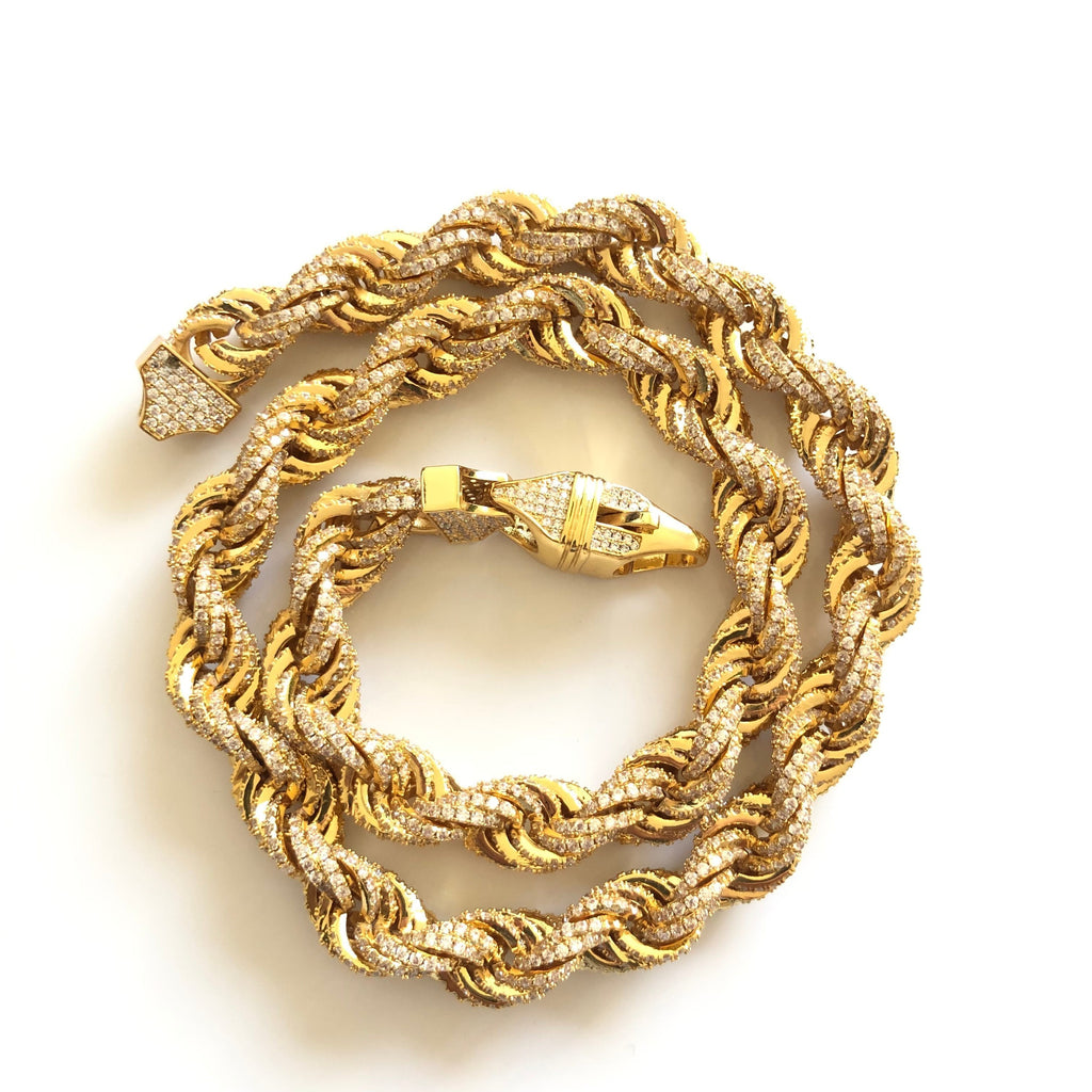 Bussdown Rope Chain Gold Twenty 7 Links Chains