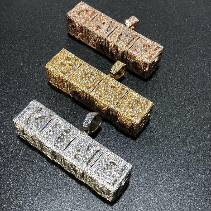 Custom Block Letter Pendant Twenty 7 Links Pendants