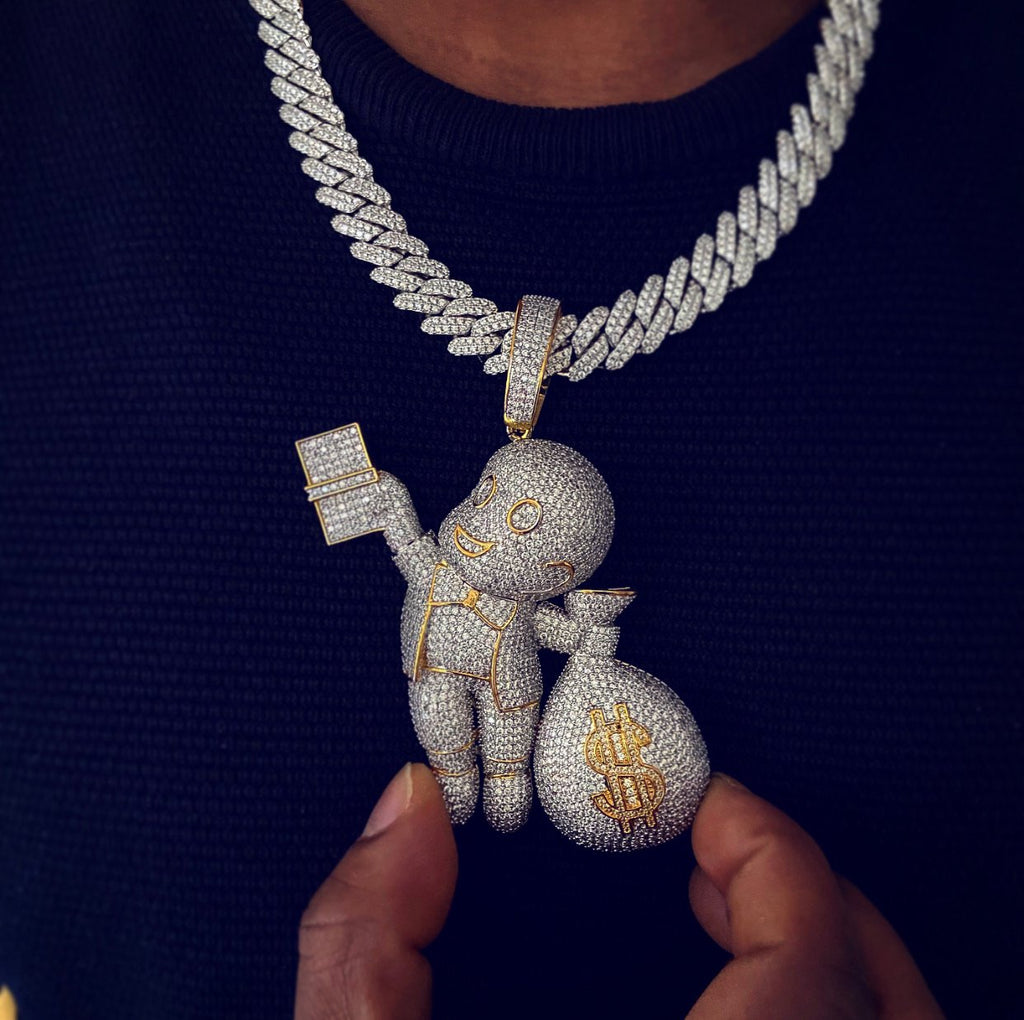 Dough Boy Money Bag Pendant Twenty 7 Links Pendants