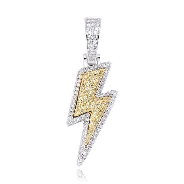 Flash Lightning Bolt Chain Two-tone Twenty 7 Links Pendants