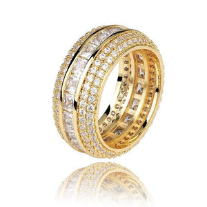 Iced Diamond Ring Twenty 7 Links Rings