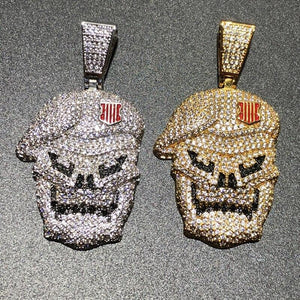 Iced Out Skull Pendant Twenty 7 Links Pendants
