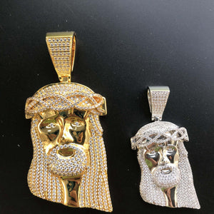 Gold Jesus Thorn Diamond Pendant Twenty 7 Links Pendants