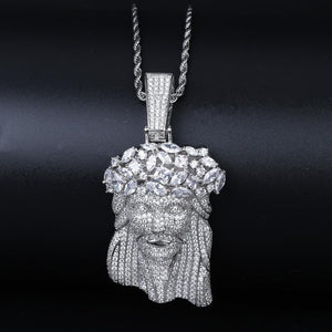 Jesus Thorn Diamond Pendant White Gold Twenty 7 Links Pendants