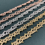 Meek Mill Thorn Link Chain Gold Twenty 7 Links Chains