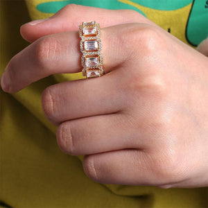 Mini Baguette Ring Twenty 7 Links Rings