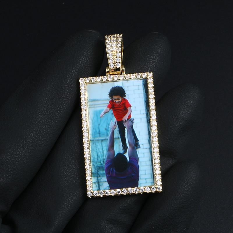 Rectangle Picture Pendant Twenty 7 Links Custom