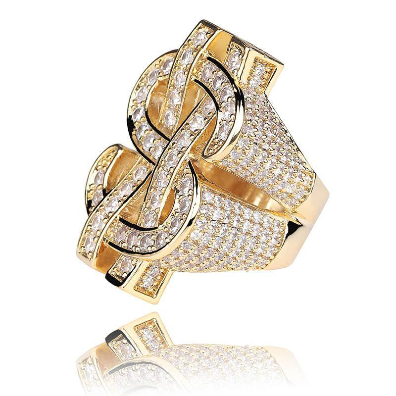 The Dollar Sign Ring Gold Twenty 7 Links Rings