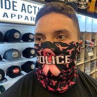 Pink/Black Police Face Guard