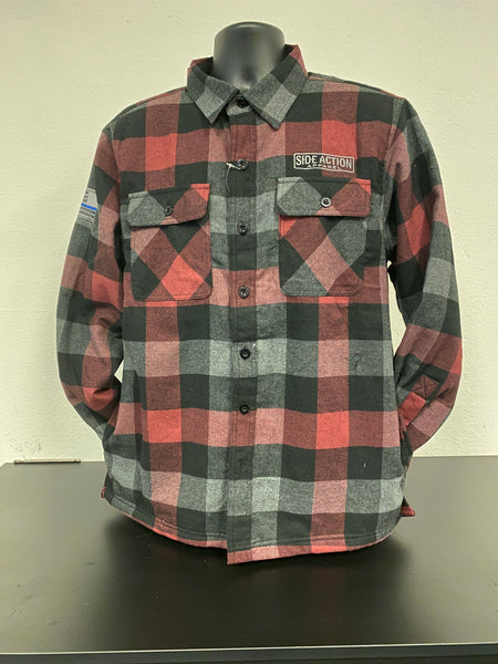 Red Black Flannel with Fleece Lining