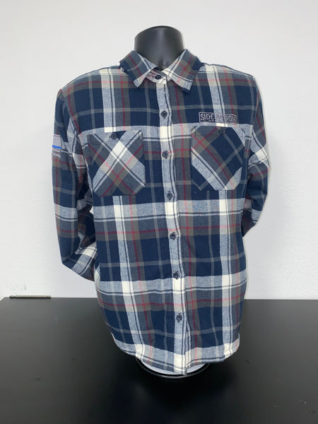 Ladies Flannel Blue/White