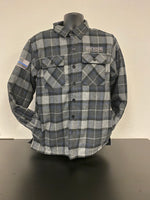 Gray Blue Flannel with Fleece Lining