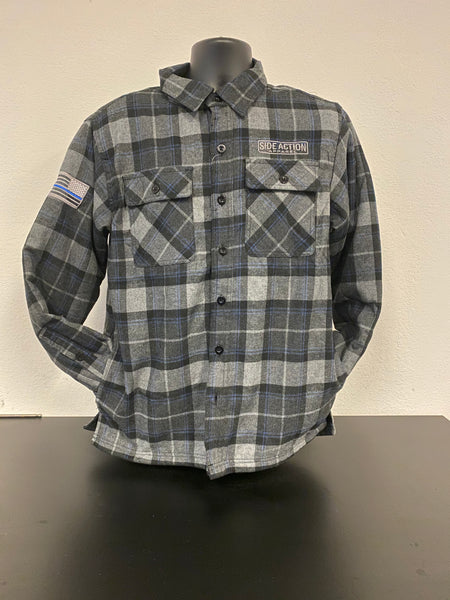 #906 Gray Blue Flannel with Fleece Lining