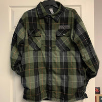 Green Black Flannel Fleece Lining 805