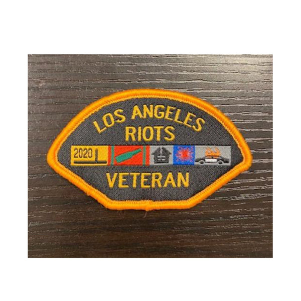 LA Riots Veteran  Small Patch (YELLOW BORDER)