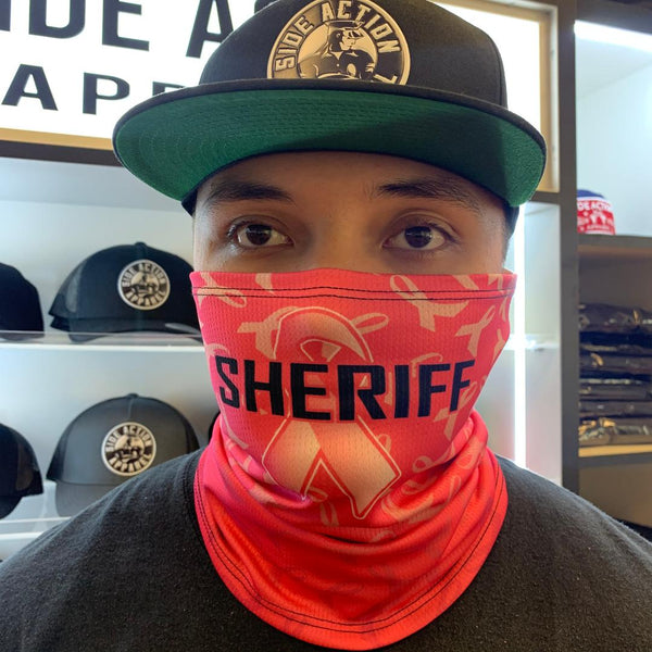 Pink Sheriff Face Guard