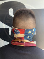 Vintage American Flag Face Guard (Plain)