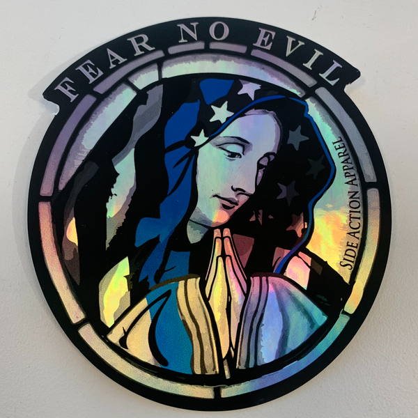 Fear no evil holographic decal