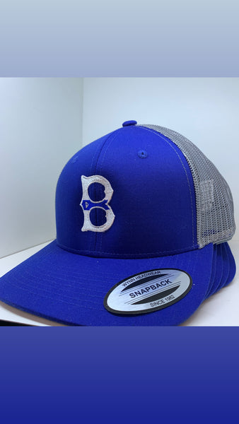 Gray/Blue Line B hat