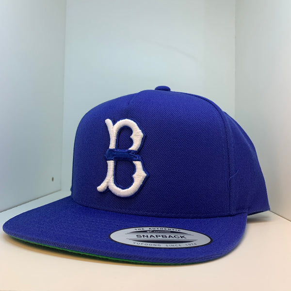3D Blue Line Flat Bill Hat