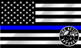 Thin Blue Line Reflective Decal (Small)