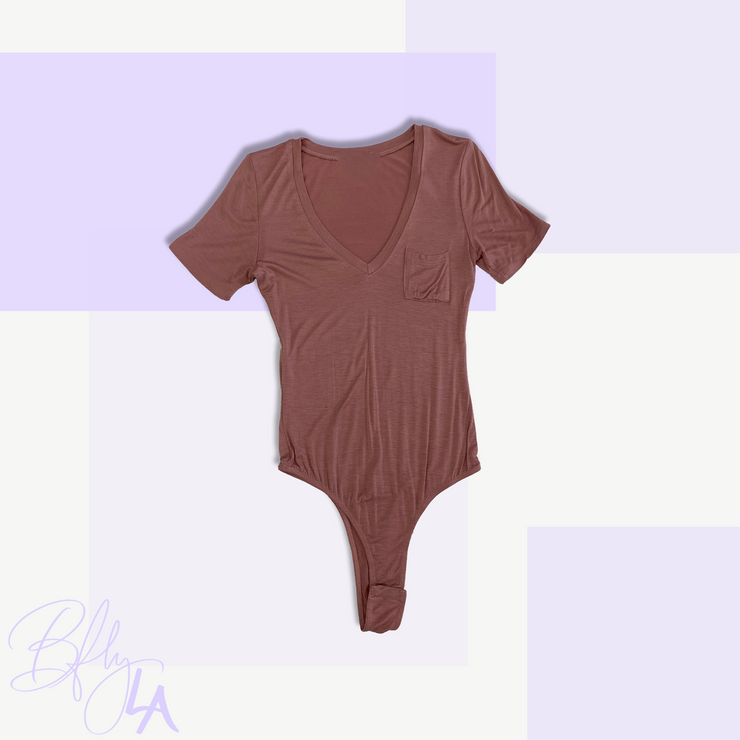 BAEsics : V Neck Bodysuit