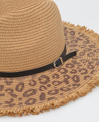 Leopard Straw Hat
