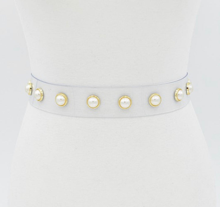 Clear Pearls : Waist Belt