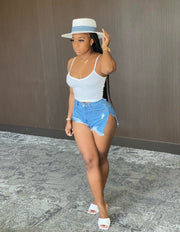 A Glance : Denim Shorts