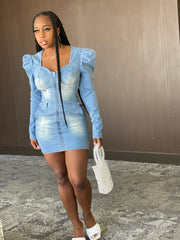Hold Tight : Denim Dress