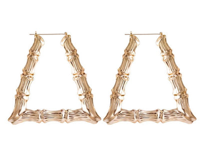 Pyramid Bamboo Earrings