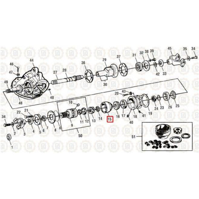 MACK CRDPC92 DIFFERENTIAL PARTS