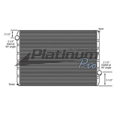 FORD L9000 RADIATOR ASSEMBLY