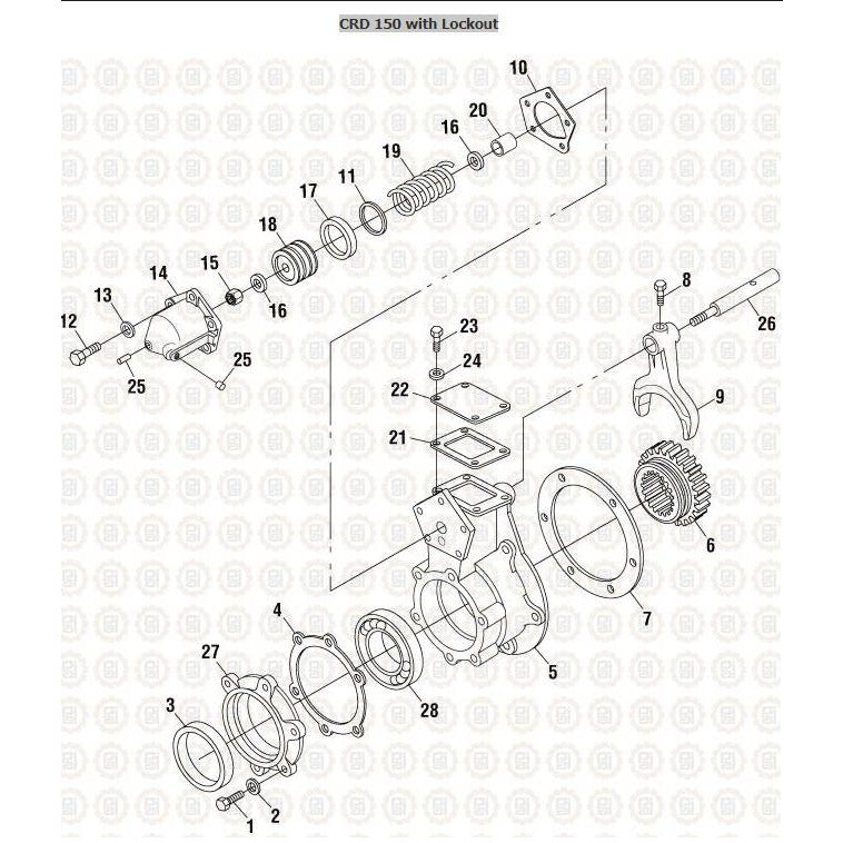 MACK CRD150 DIFFERENTIAL PARTS