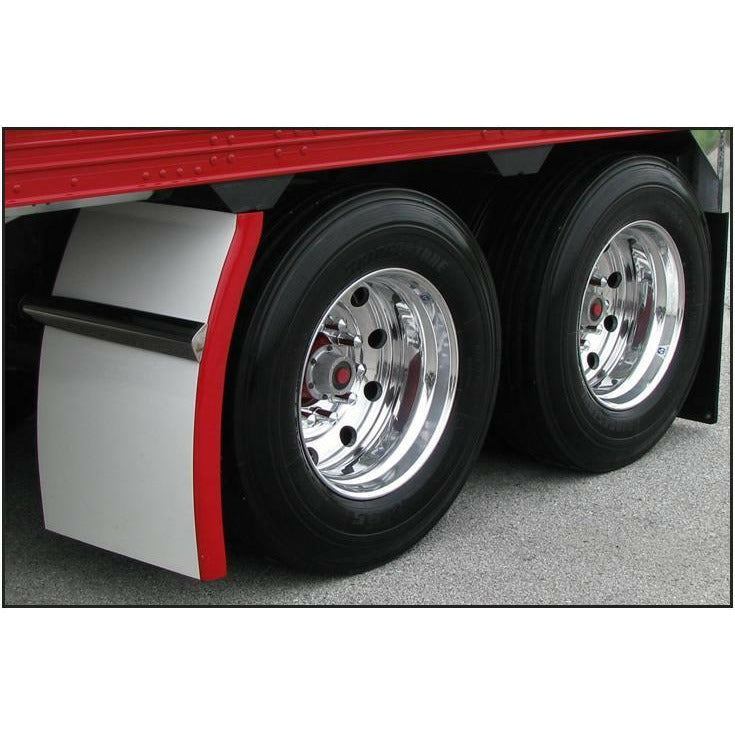 120 Inch 4 Ribbed Full Fender With Beaded Edge (35L-54W-31H) - 16 Gauge Stainless Steel
