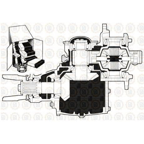 MACK CRD93 DIFFERENTIAL PARTS