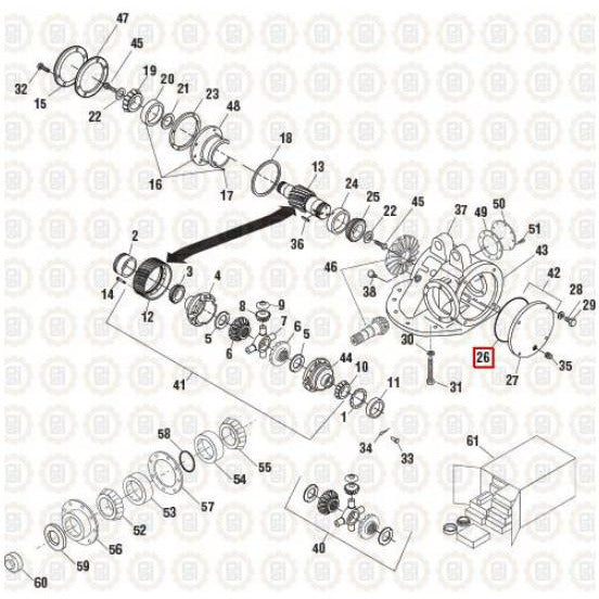 MACK CRD92 DIFFERENTIAL PARTS