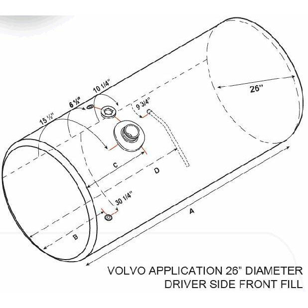 VOLVO VNL 2003-OLDER FUEL TANK