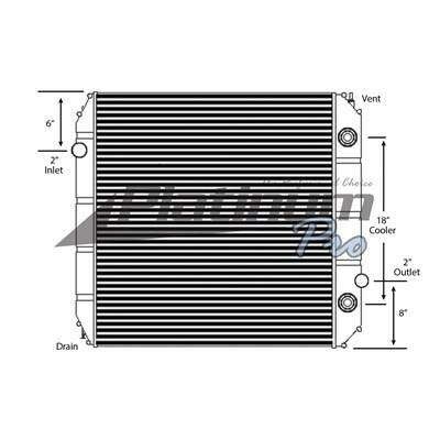 FORD F650SD (SUPER DUTY) RADIATOR ASSEMBLY