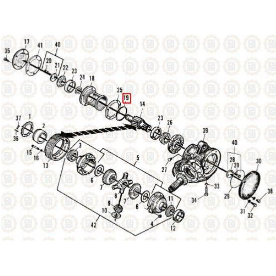 MACK CRD203 DIFFERENTIAL PARTS