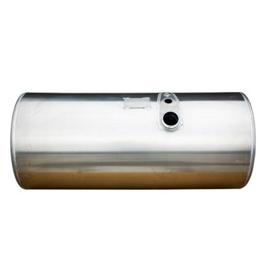 fuel tank for a Volvo, measuring 26 inches X 67.75 inches and 150 gal., with driver side front fill.