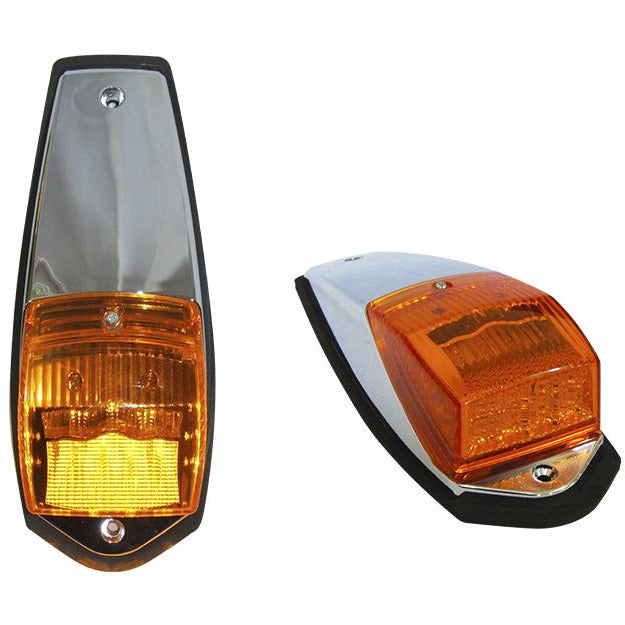 Universal 16 Amber LED Oval Reflector Turn Signal Light - Clear Lens