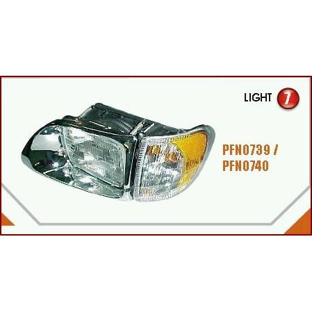 INTERNATIONAL 9400 HEADLAMP ASSEMBLY AND COMPONENT