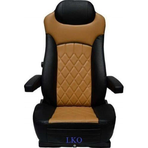 Heavy Duty Premium Leather Series Grey/Black Two Armrests & Backcycler