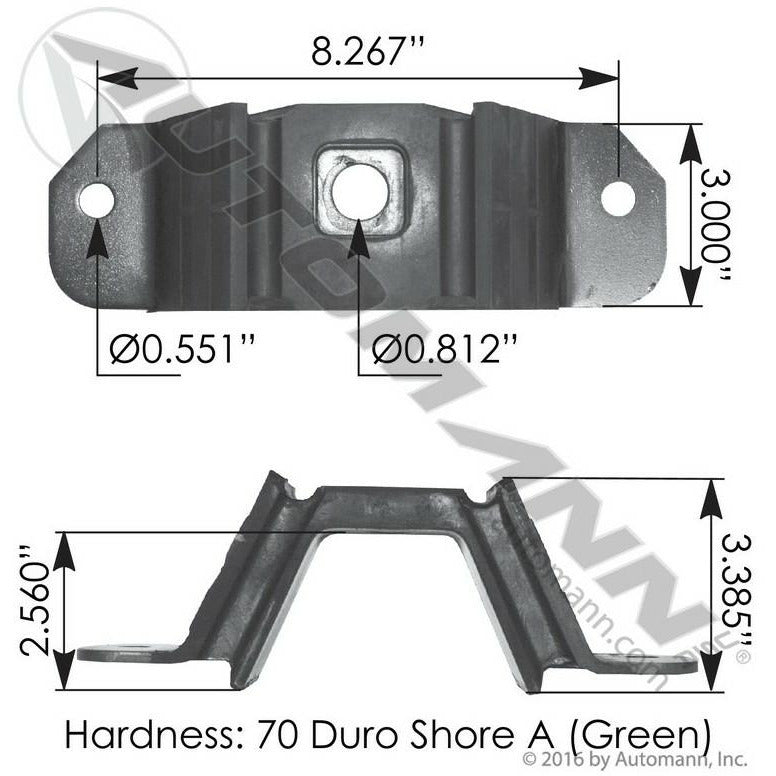 FREIGHTLINER CENTURY 112 ENGINE MOUNTS - VEHICLE (FRONT)